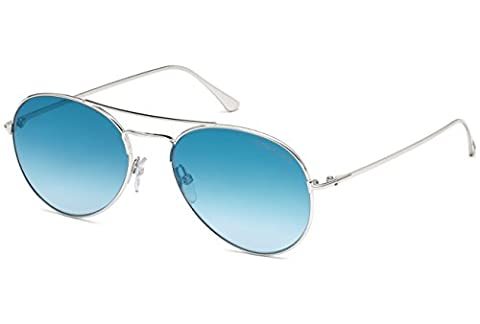 Tom Ford - ACE-02 FT 0551, Aviator, metal, men, SILVER/BLUE SHADED (18X), 55/17/145