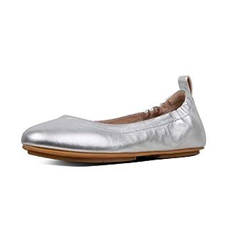 FitFlop Damen Allegro Geschlossene Ballerinas, Silber (Silver 011), 40 EU