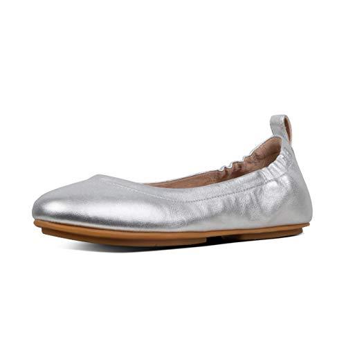 Fitflop Damen Allegro Geschlossene Ballerinas, Silber (Silver 011), 39 EU