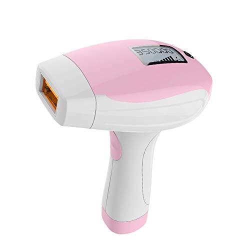LNLJ Sistema di depilazione IPL, indolore Permanente IPL Dispositivo di depilazione 350.000 Flash, Adatto per Donne e Uomini Rosa