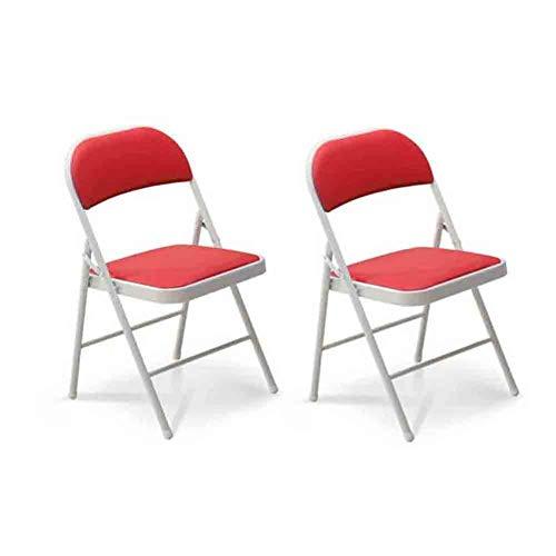 Sechs Esszimmer Stühle (WGXX Klappstuhl Folding Office Rückenlehne Stuhl, Kunstleder Gepolsterten Esszimmer Sitz, 2er Pack (Farbe : 6))