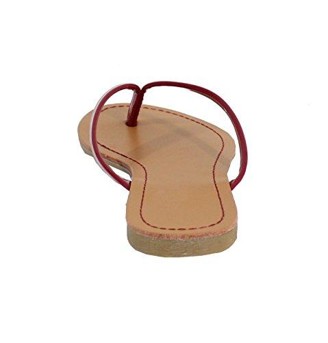 By Shoes , Damen Sandalen Burgundy
