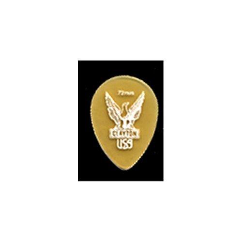 clayton-ultem-gold-small-teardrop-picks-12-pack-072-mm-transparent-gold