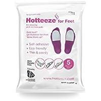 Hotteeze Umweltfreundlich selbstklebend Wärme Pads für Füße–1Pack (5Paar) preisvergleich bei billige-tabletten.eu