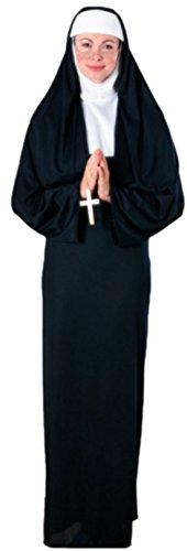 erdbeerloft - Unisex - Erwachsene Nonnen Kloster Outfit, onesize, (Nonnen Outfit)