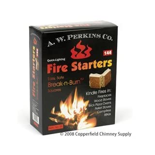 AW Perkins Fire Starters - 144 Squares Per Box by A.W. PERKINS CO