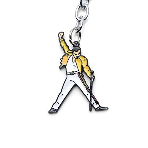 Llavero diseño Freddie Mercury Queen Escenario micrófono