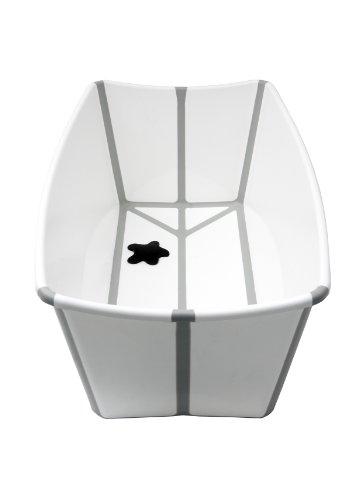 A Real Cool World 103 - FlexiBath Vaschetta da bagno pieghevole, colore: Bianco/Grigio