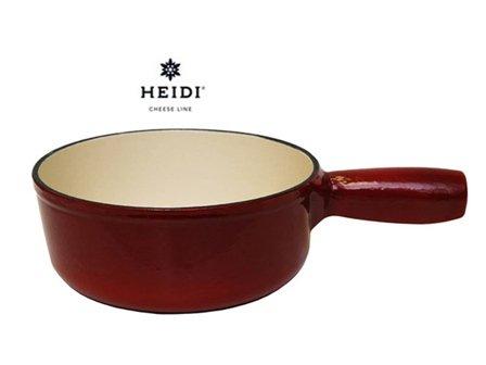 HEIDI Cheese Line Caquelon Rojo Inducción Fondue de queso Hierro fundido Ø 19cm