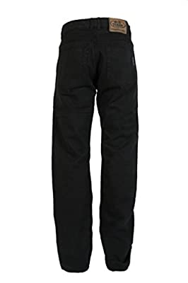 Mens Black Denim Dupont 280GSM Kevlar Motorbike Jeans With CE Armour - Great Size Range Of Waist/Leg Options