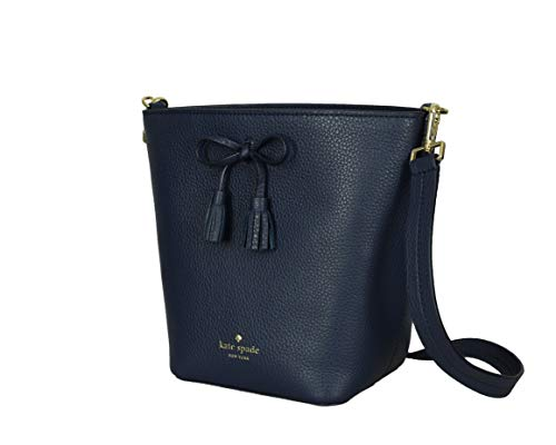 Kate Spade New York Hayes Street Vanessa Textured Pebble Leather Bucket Womens Crossbody Bag