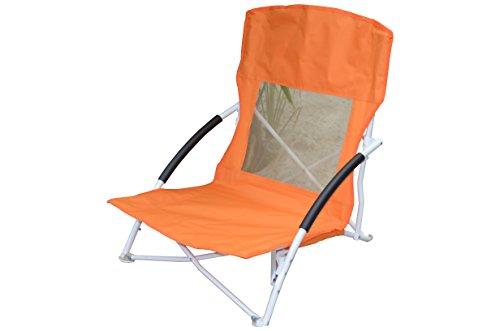 Fair-Shopping Strandstuhl Campingstuhl Klappstuhl Faltstuhl Gartenstuhl 4 Farben F110 (Orange)