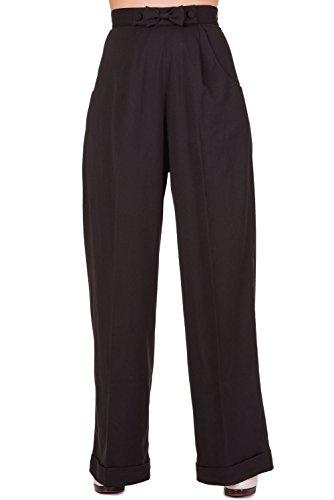 Banned Marlenehose Hidden Away Trousers 439 Schwarz XL