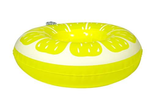 Folat 20295 - portabicchieri gonfiabile galleggiante, colore: giallo