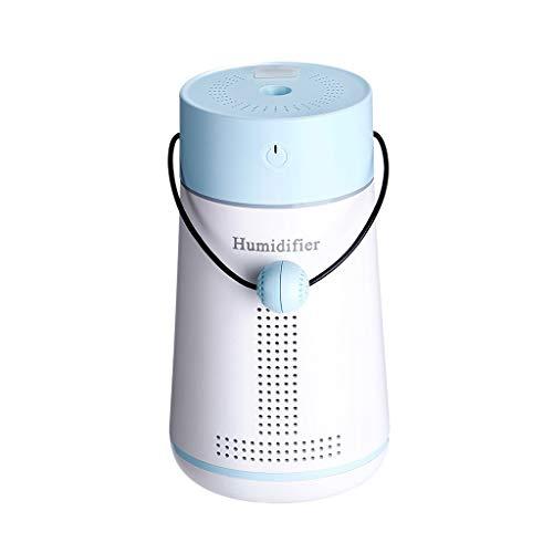 UJUNAOR USB Lampe Zerstäubung Luftbefeuchter + Aroma + Nachtlicht/ätherisches Öl Diffusor/Luftdiffusor Luftreiniger Zerstäuber (250ml, mit LED + Lüfter)(Blau,One size)