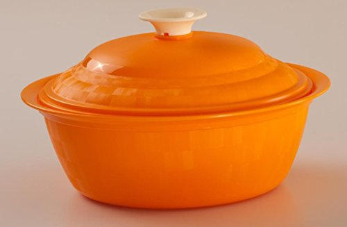 Cutting Edge Daffodil Royal Serving Dish, Set of 1, 1.8 Litre, Candy Orange  available at amazon for Rs.199