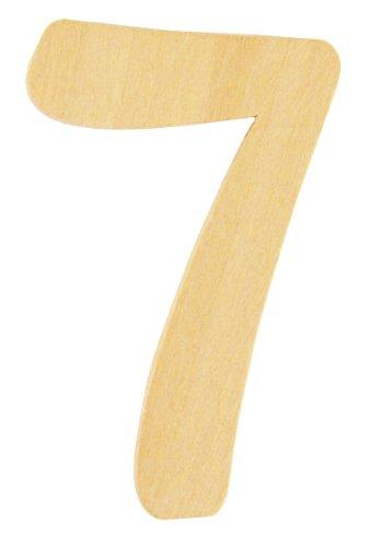 Rayher 6196200 Holz-Zahl, 6 cm, 7 - wurde ersetzt durch: 62230000