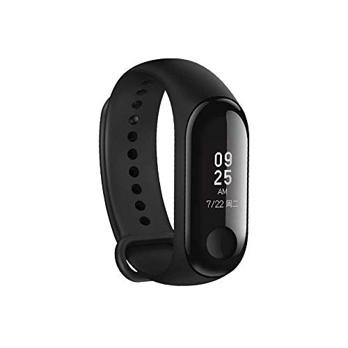 Banlok Xiaomi Redmi 6A Compatible Smart Fitness Band 3 Activity Tracker | Fitband with OLED Heart Rate Monitor, Health Activity, Smart Bracelet Wristband - Black