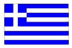 Novelties Direct Griechische Flagge Griechenland, 1.52 x Meters 0.91 Meters (100% Polyester), Mit Ösen Zum Aufhängen -