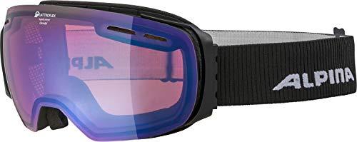 ALPINA Unisex- Erwachsene Granby QHM Ski & Snowboardbrillen, Black matt, One Size