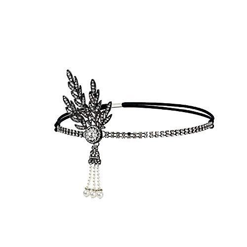 Daysing Chapeau De Bibelot, Headband Flapper Headband Headdress Feather Garland Bandeau pour Les Filles 2019 Nouveaux Bijoux De Mariage DiadèMe Banquet De Bal D'éTudiants