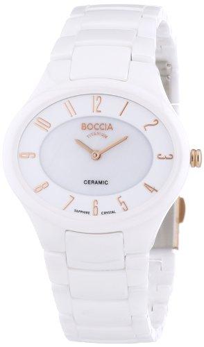 Boccia Damen-Armbanduhr Analog Quarz Keramik 3216-03