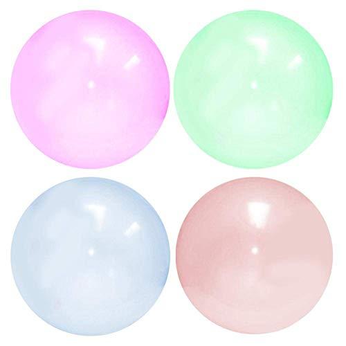Mooyii 110 cm fantastischer Bubble Ball Wassergefüllte interaktive Gummibälle Outdoor, Übergroße Aufblasbare Wasserball, Strand Bubble Ball Für Sommer Strand Pool Party Supplies (4 PCS)