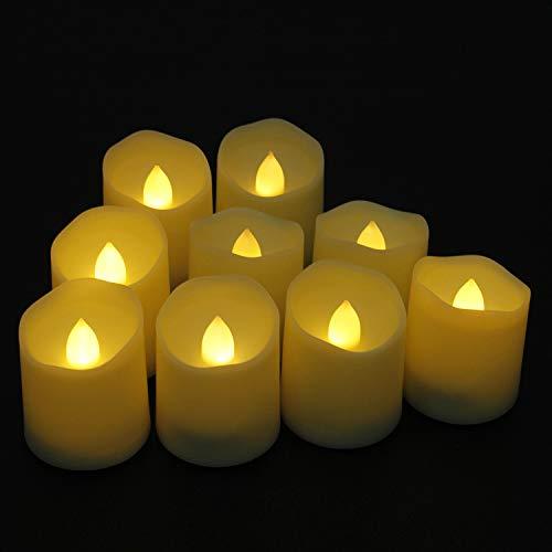 ose Kerzen 9 LED-Leuchten 3 Modi Kerze mit Timer, Fernbedienung und batteriesfor Weihnachtsbaum, Weihnachten Dekoration, Hochzeit, Geburtstag, Party ()