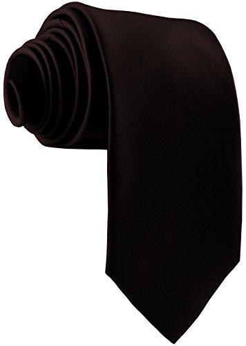 ADAMANT® Designer Krawatte, breit, verschiedene Farben - TOPQUALITÄT - Moderne uni Krawatten für Business und Alltag - Dunkelbraun / Braun (Braune Designer-anzug)