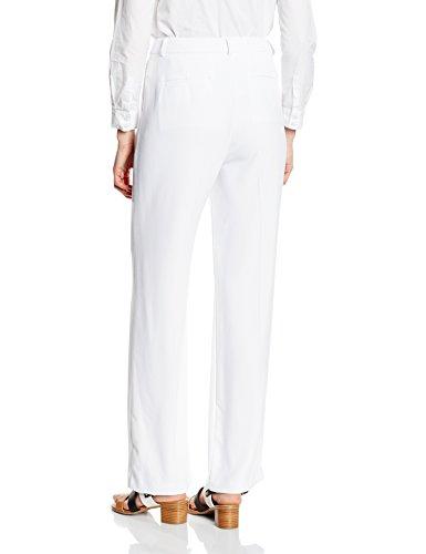 Cortefiel Pant Fluido Ancho Bols Fr, Pantaloni Donna Bianco