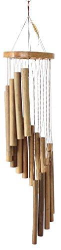 budawi Windspiel Bambus spiralförmige Klangspiele aus feinem Bambus, Holzklangspiele