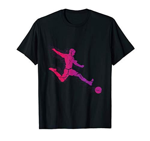 Kostüm Frauen Spieler Fußball - Fußballspieler Schießt Ein Tor Elfmeter Freistoß T-Shirt