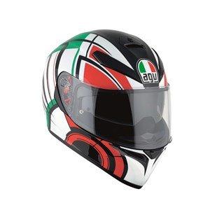 AGV k3-sv DVS Full Face casco de moto motocicleta tapa–Avior blanco/Italia