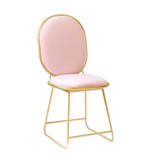 S&RL Hocker Stuhl Sitz Schuhbank Esszimmerstuhl Hoher Hocker Kreativer Sessel Schminktisch Stuhl Lounge Sessel Moderne Schmiedeeisen Bar Stuhl Couchtisch Stuhl - Stoff Stahl Bar Hocker