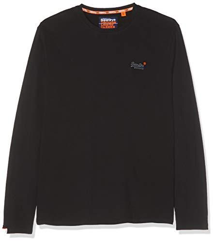 Superdry Herren O L Vintage Embroidery L/S Tee Langarmshirt, Schwarz (Black 02A), XX-Large