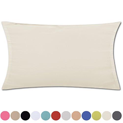 Kissenhülle Kissenbezug Microsatin in über 150 Varianten, Auswahl: ca. 30cm x 50cm beige - creme