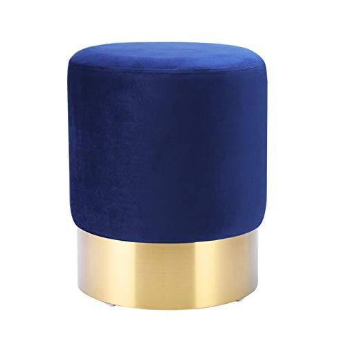 Metall-modernes Sofa (WYYY Bürostuhl Fußhocker Polsterhocker Ottomane Moderne Einfachheit Sofa Hocker Metall Stahlring Hohe Tragfähigkeit Durable stark (Color : Blue))