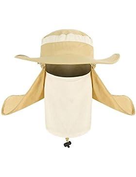 360 Gradi Cappello Cappello Da Sole Estivo All'aperto Bambino Uomini UV Impermeabile Cappello Pesca Cappello,Beige-AllCode