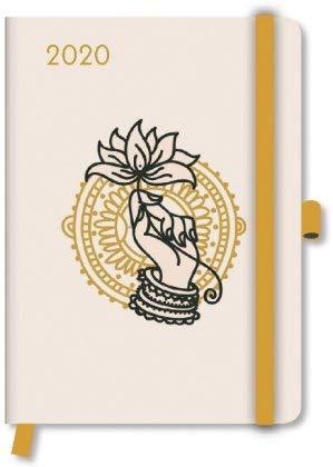 Greenline Diary Namaste - Kalenderbuch A5 - Kalender 2020 - teNeues-Verlag - Taschenkalender mit Lesebändchen und Verschlußgummi - 16 cm x 22 cm