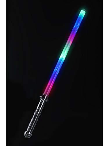 Fancy Ole - Kostüm Accessoires Zubehör Fake leuchtendes Laserschwert Regenbogen Rainbow Weltraum Schwert Mehrfarbig Leuchtend 69cm, perfekt für Karneval, Fasching und Fastnacht, Mehrfarbig (Prinzessin Leia Kostüm Rebel)