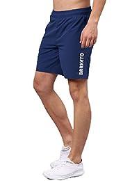 BARKEYO Men's Polyester Shorts for Gym/Jog/Yoga