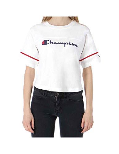 Champion Damen T-Shirt Crewneck Croptop 111380, Größe:M, Farbe:weiß (wht) -