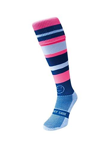 WackySox Verrückte Reifen Knie Länge Rugby Hockey Und Fußball Sport-Socken Lila-smoothie Erwachsenen Schuhgröße 41-46 Verrückte Knie-socken Für Mädchen