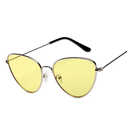 AMINE Sonnenbrille Unisex Sonnenbrille Gezeiten Sonnenbrille Katzenauge Explosion Ozean Sonnenbrille (D)