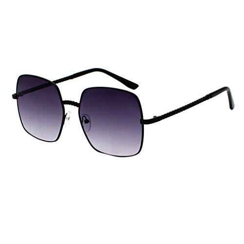 fazry Herren Damen Polarisiert Sonnenbrille Metallrahmen Mode Brille Brillen(Lila)