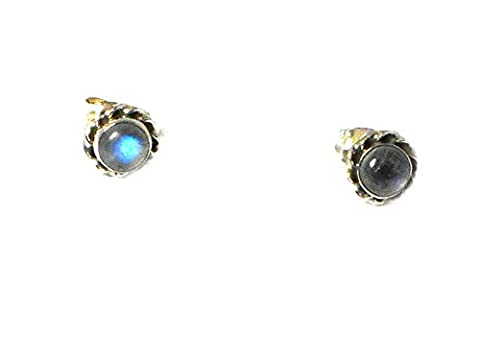 MOONSTONE Sterling Silver Gemstone STUD / Earrings 925 - Gift