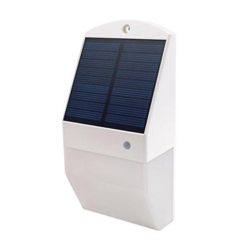 HONXEE L8 Solarleuchten für für Aussen, 25 LED Motion Sensor Solarleuchten, IP65 wasserdichte Sicherheitsleuchten für Haustür, Hof, Garage, Garten, Weg (weiß)