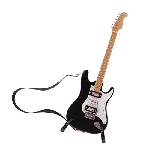 Jjek Mini Puppenhaus Zubehör DollhouseDIY Simulation Miniatur Akustikgitarre E-Gitarre Dekoration Modell (Akustische Gitarre Größentabelle)