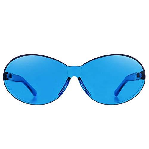Quiet.T Sonnenbrille, ohne Rahmen, für Frauen und Männer, süß, Farbe Bonbon, europäische und amerikanische Sonnenbrille, alle Brillen, UV400 blau