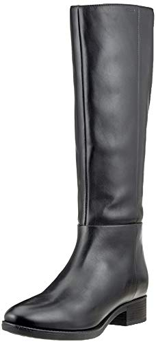 Geox D Felicity D, Botas Altas para Mujer, Negro (Black C9999), 39 EU